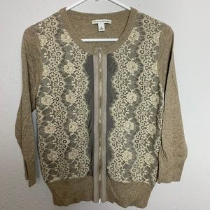 Banana Republic M Tan Beige Cardigan Sweater